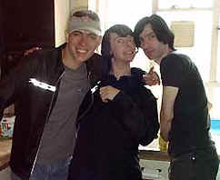 ME WITH BROTHERS CADE AND RYAN IN THEIR LONDON KITCHEN