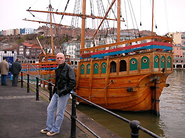 HARBOURSIDE IN BRISTOL WITH THE JOHN CABOT.