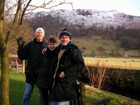 US WITH KEVIN IN AMBLESIDE NEAR WINDERMERE.